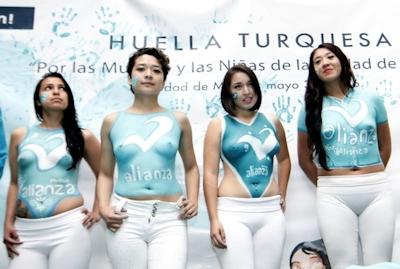 選挙イベントに上半身裸の女性たち登場、メキシコ政党に批判殺到 -AFPBB News