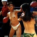 タイの地下トップレスボクシングの画像