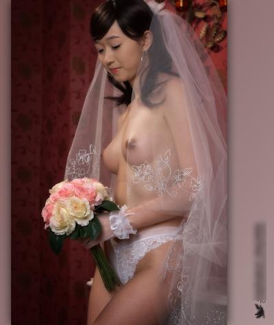 美乳な韓国新婚美女のウェディングヌード画像6