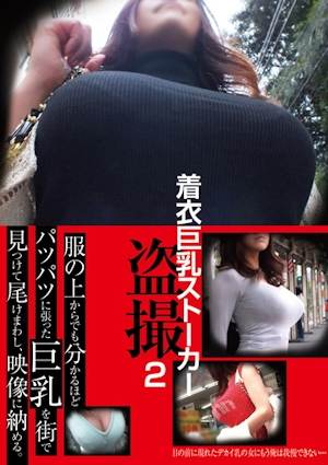 着衣巨乳ストーカー盗撮 2