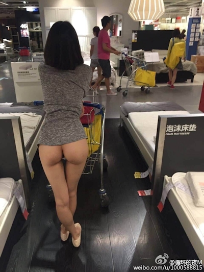 IKEA北京店 全裸露出プレイ 中国素人女性 ヌード画像 2