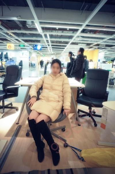 IKEA北京店 全裸露出プレイ 中国素人女性 ヌード画像 4