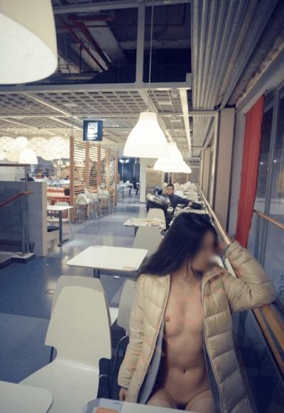 IKEA北京店 全裸露出プレイ 中国素人女性 ヌード画像 7