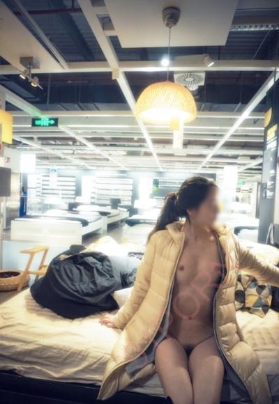 IKEA北京店 全裸露出プレイ 中国素人女性 ヌード画像 11