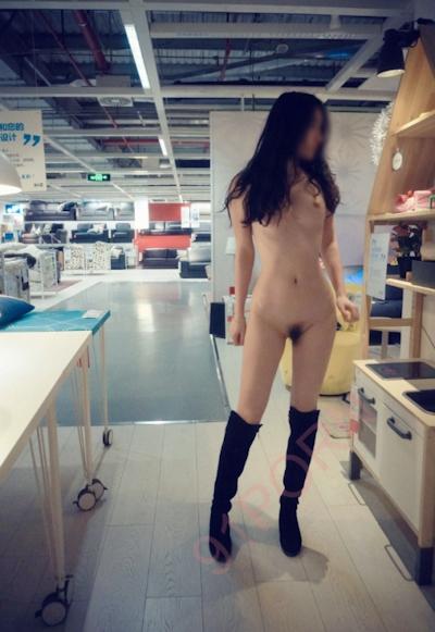 IKEA北京店 全裸露出プレイ 中国素人女性 ヌード画像 16