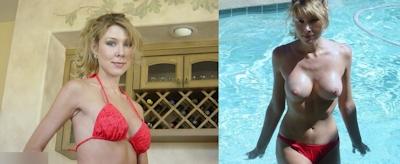 西洋熟女の着衣時とヌードの比較画像 15