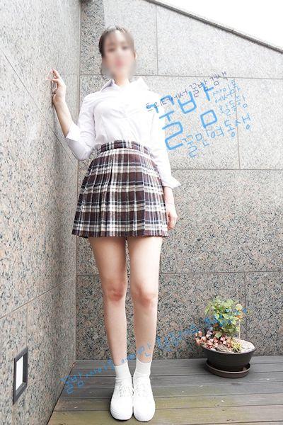 韓国巨乳素人女性 制服コスプレヌード画像 1