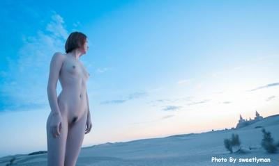中国スレンダー微乳美女ヌード画像 6