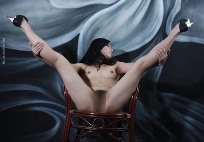 中国美女をモデルに撮影したヌード画像 19