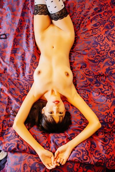 中国美女モデル 艾栗栗(Ailili) セクシーヌード画像 4
