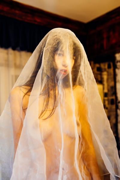 中国美女モデル 艾栗栗(Ailili) セクシーヌード画像 9