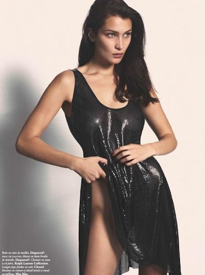 Bella Hadid(ベラ・ハディッド) Vogue Paris (September 2016) ヌードグラビア 4