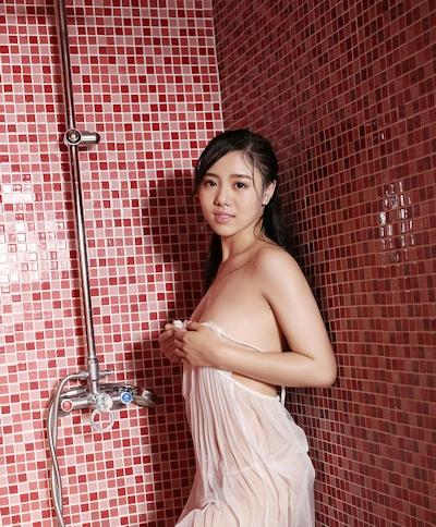 中国美女モデル 沐若昕(Mu Ruoxin) セクシーセミヌード画像 7