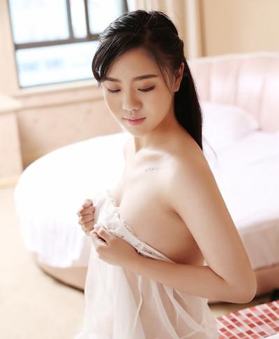 中国美女モデル 沐若昕(Mu Ruoxin) セクシーセミヌード画像 20