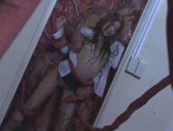(触手)触手に襲われ淫らな身体にされてしまう受付嬢-紗奈