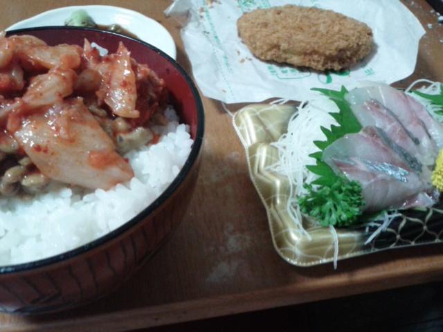 八月三日先日の夕食
