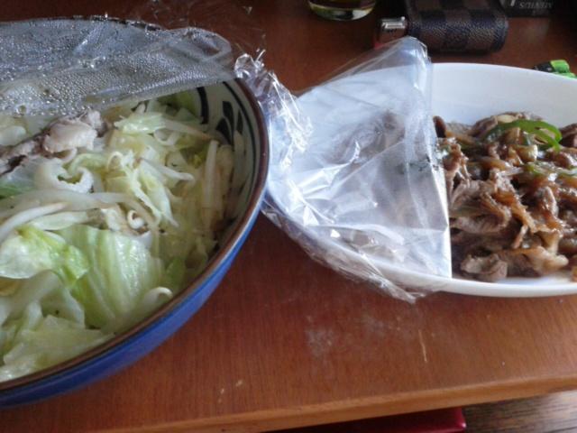 八月二十六日ヘルパーに作ってもらった夕食