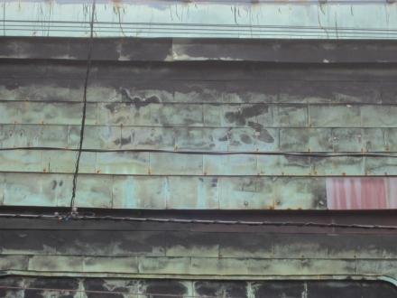 浅草端3丁目 3連アーチの銅板葺看板建築⑥