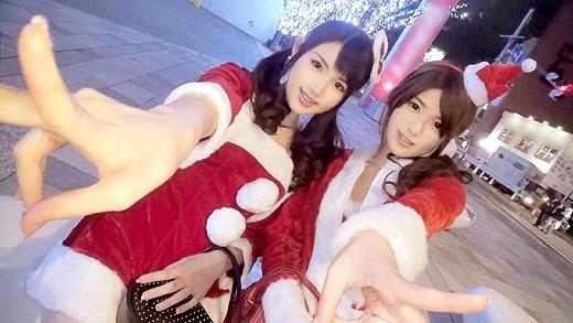 クリスマスナンパ 01 みおり 21歳 占い師見習い さくら 24歳 スムージーショップ店員