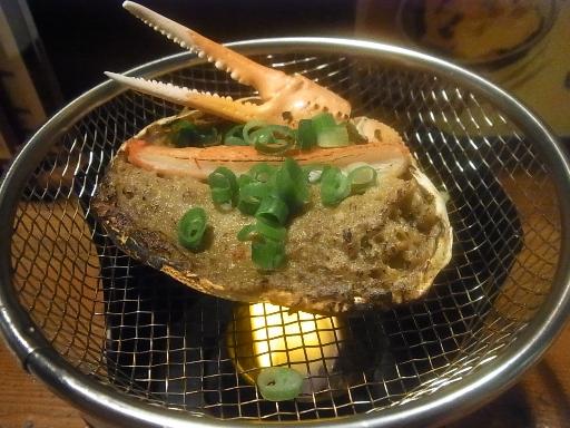 カニミソ甲羅焼き