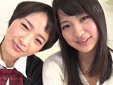 【無】萌えカワ娘2人組が恥ずかしレズプレイ&連続中出し!市川留美・羽田真里||
