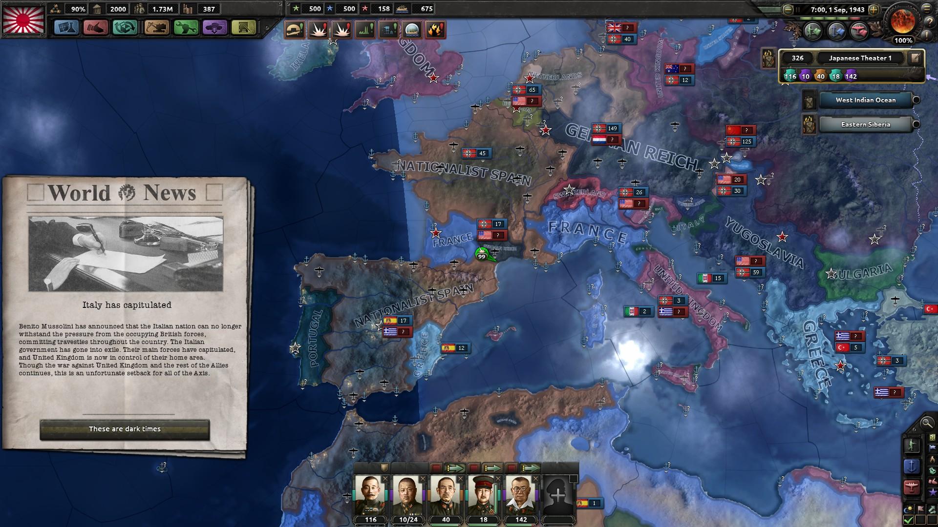 HoI4イタリア降伏