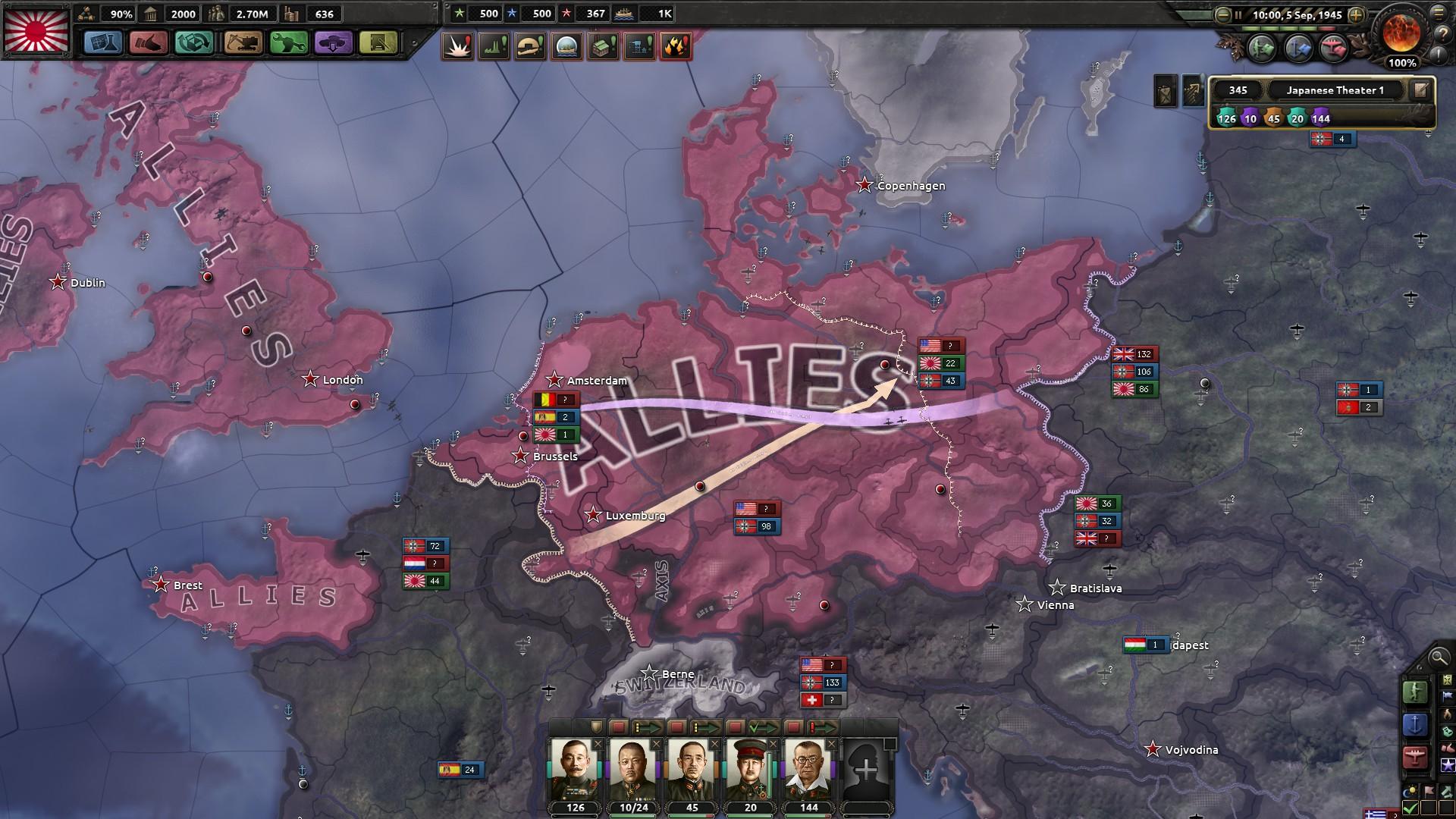HoI4ドイツ開放攻撃開始