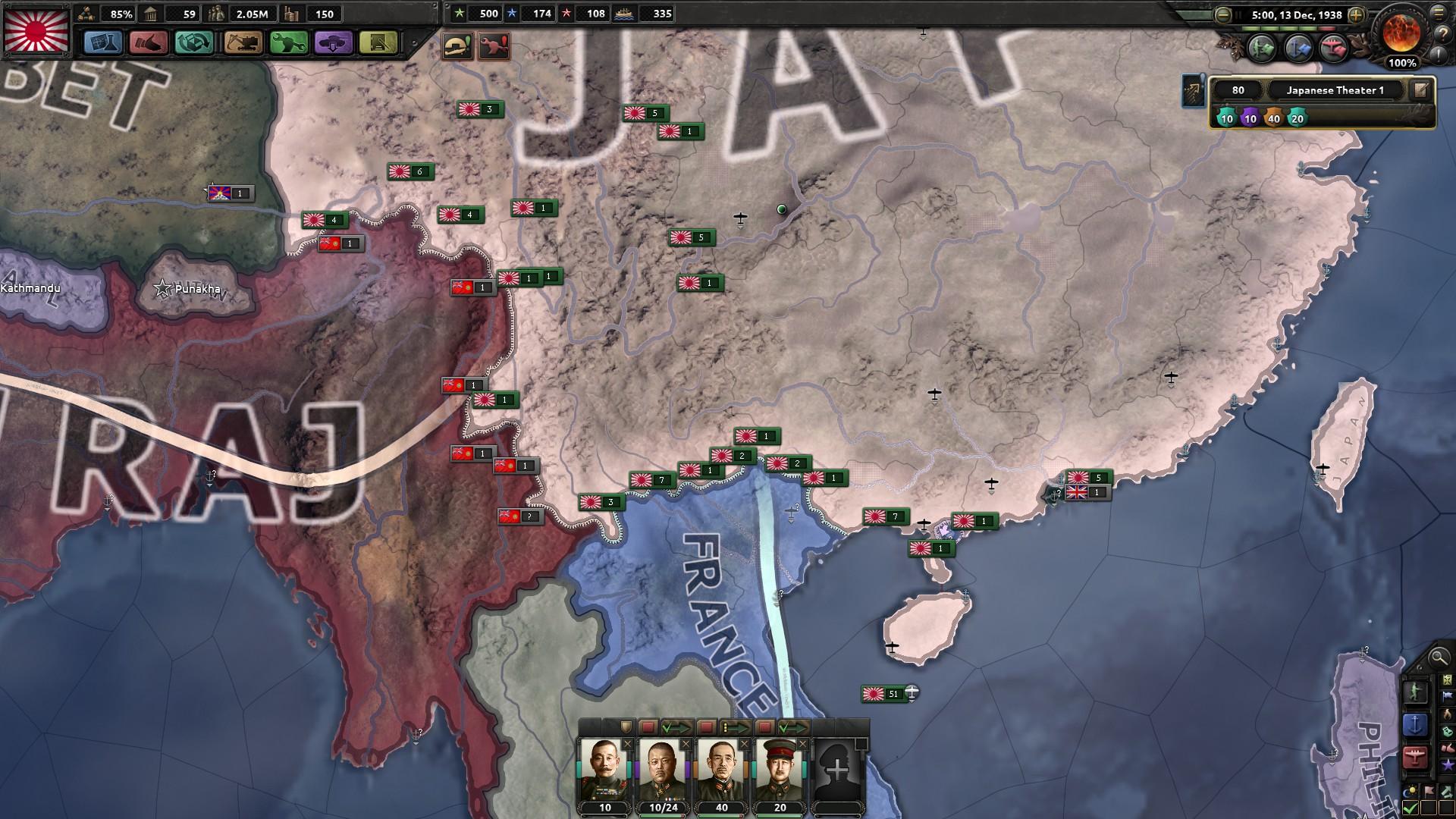 HoI4対連合国布陣
