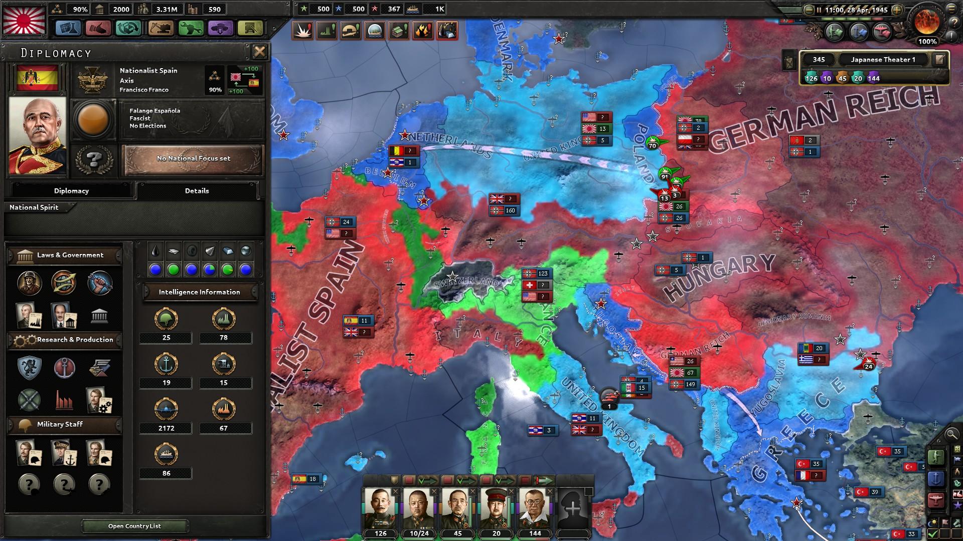 HoI4スペイン戦力