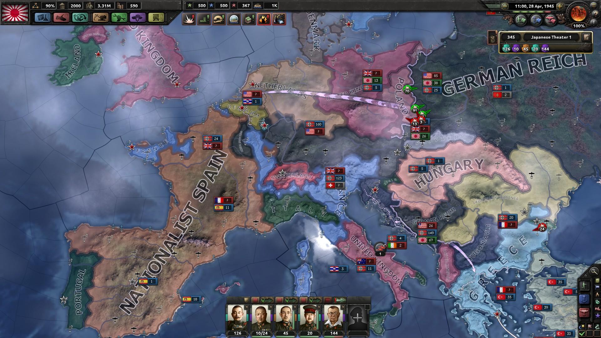 HoI4対連合国マップ