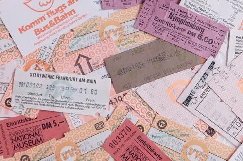 切手 チケット 切符 旅の思い出