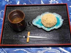 お茶チムにおはぎ201541126