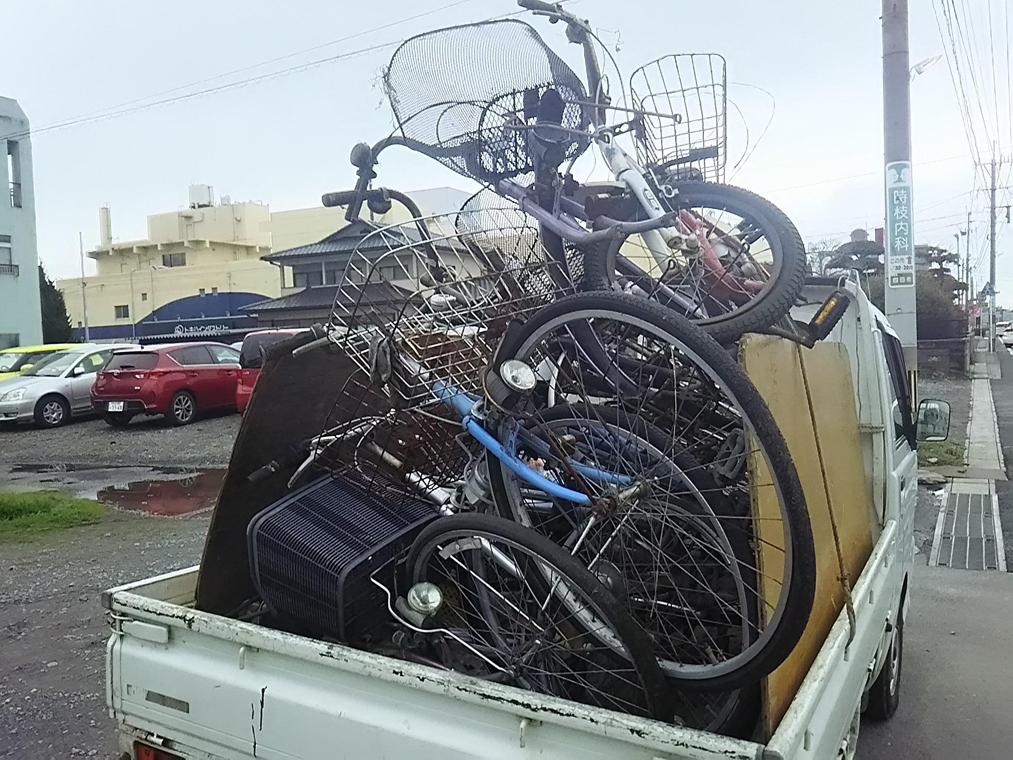 自転車たくさん。