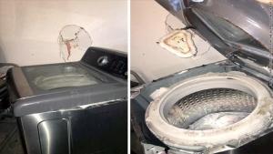 サムスン 洗濯機 破裂