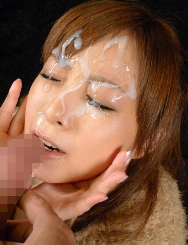 顔面射精画像 3