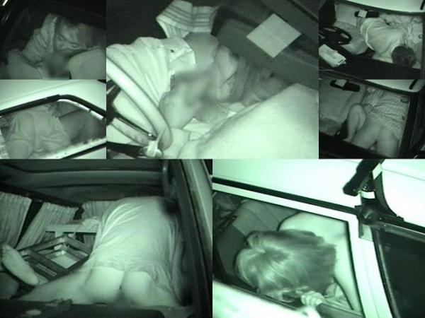 カーセックス赤外線盗撮画像 2