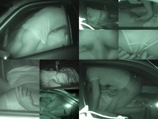 カーセックス赤外線盗撮画像 24