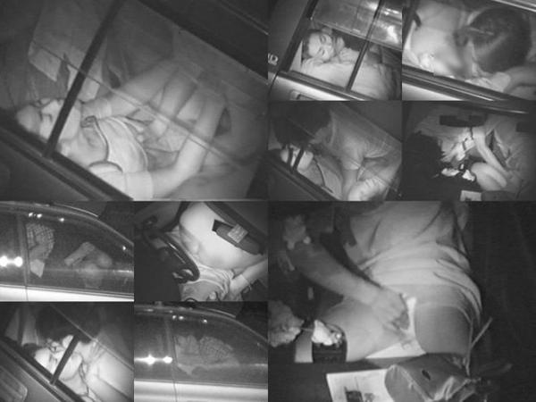 カーセックス赤外線盗撮画像 27