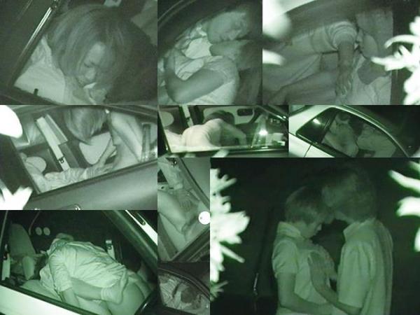 カーセックス赤外線盗撮画像