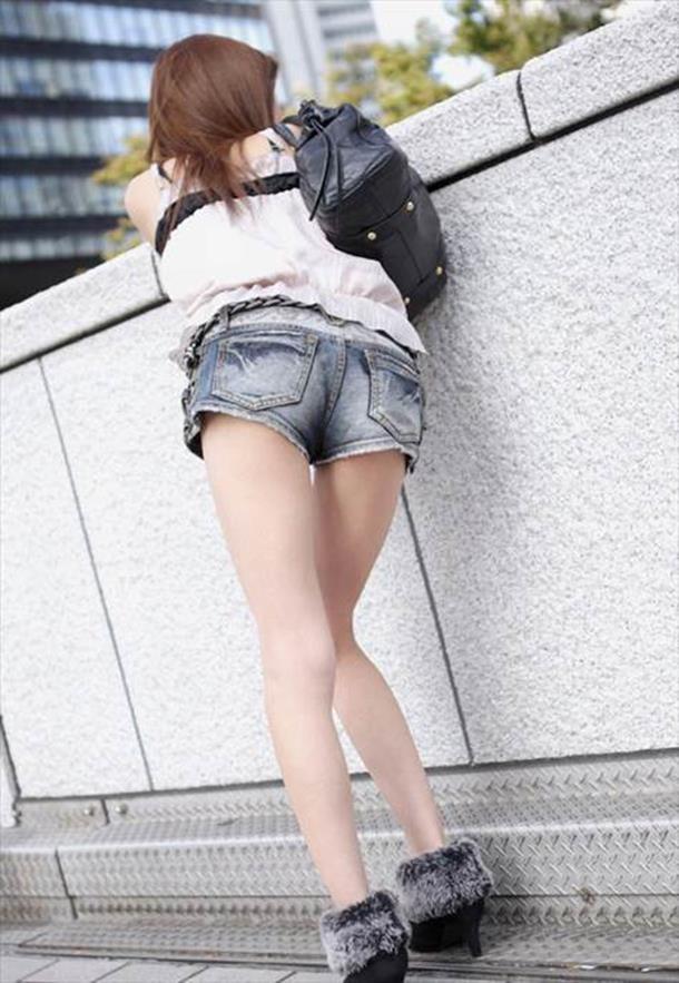 ミニ ショートパンツ 街撮り 街撮りホットパンツ画像006
