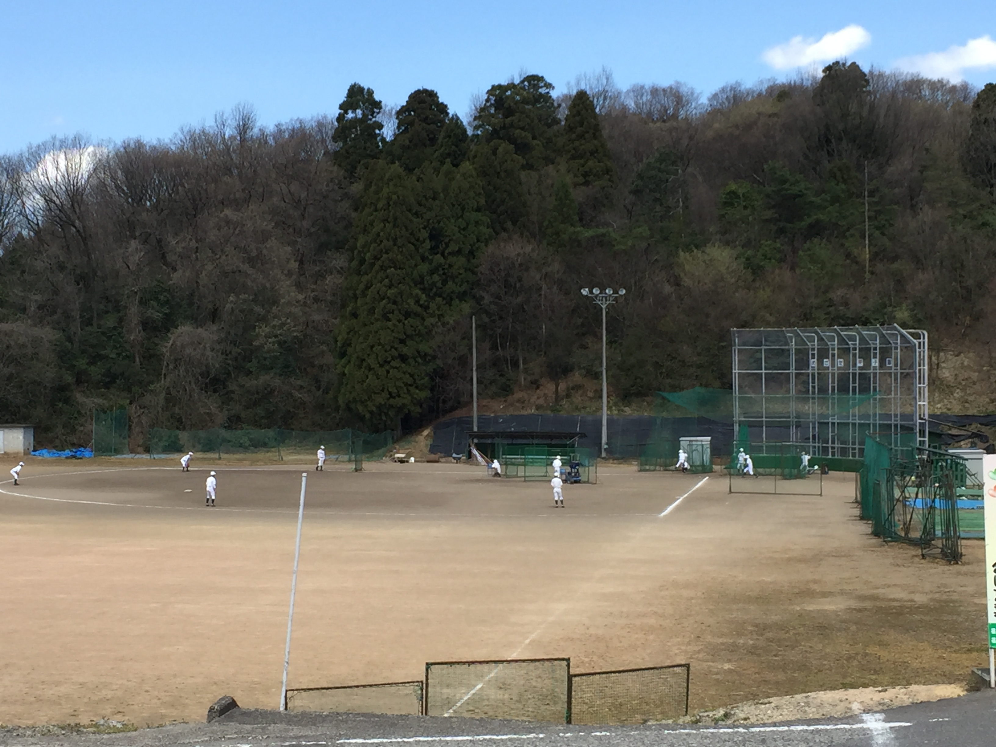 20160402_足羽高校硬式野球練習風景