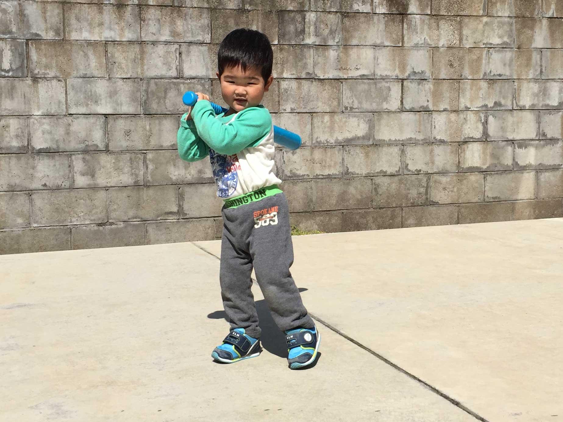 2歳児野球10