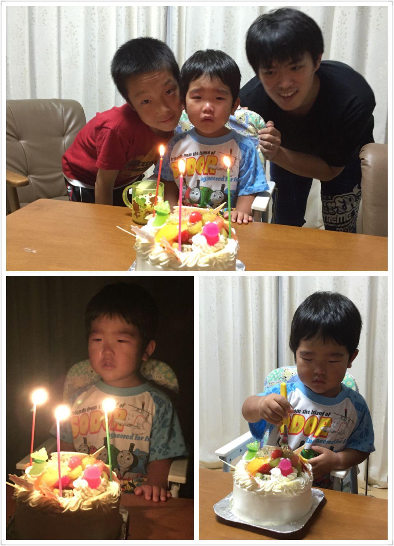 3歳誕生日ケーキ