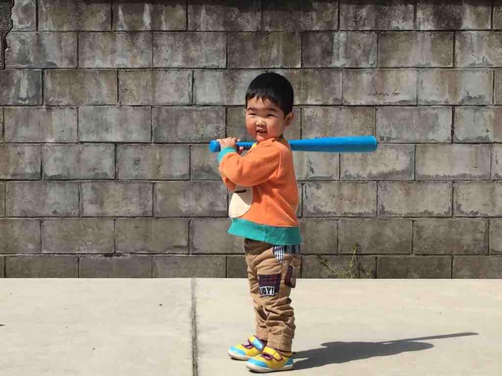 2歳児_少年野球_自主練習01