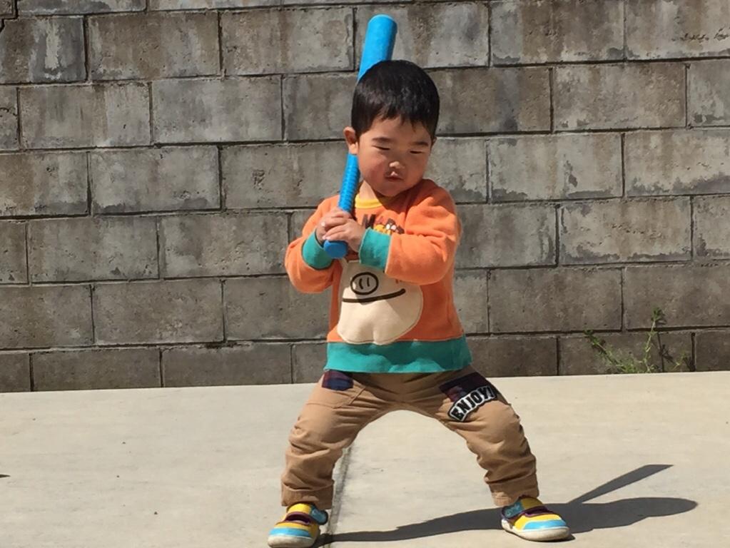 2歳児_少年野球_自主練習02