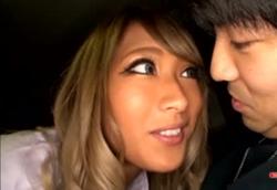 【黒ギャル痴女】車内でM男責めベロキス&手コキフェラ&パイズリ!AIKA