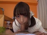 桃乃木かな アイドル級に可愛い美少女が就寝前に愛情たっぷりの主観フェラ抜きご奉仕!