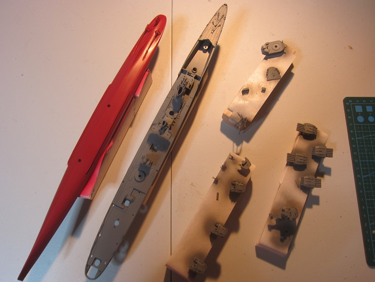 船体上部構造物の塗装