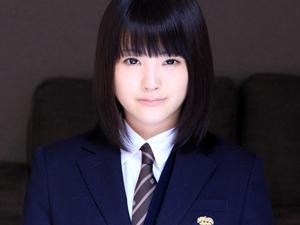 【木村つな】黒ストッキングのウブな制服美少女と着衣ファックで大量顔射!!
