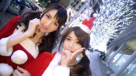 【ナンパTV】クリスマスナンパ 01 みおり 21歳 占い師見習い さくら 24歳 スムージーショップ店員 2